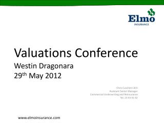 Valuations Conference Westin Dragonara 29th May 2012