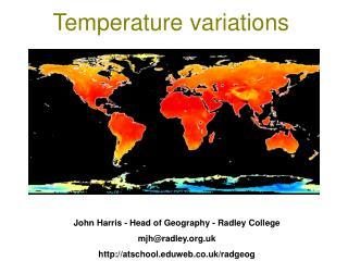 Temperature variations