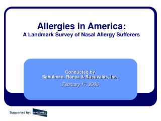 Allergies in America:  A Landmark Survey of Nasal Allergy Sufferers