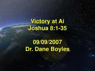 Victory at Ai Joshua 8:1-35  09