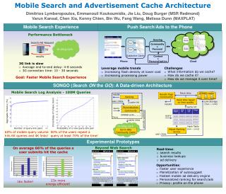 Mobile Search and Advertisement Cache Architecture