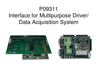 P09311 Interface for Multipurpose Driver