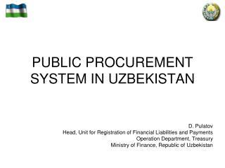 PUBLIC PROCUREMENT SYSTEM IN UZBEKISTAN