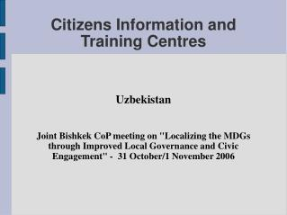 Citizens Information and Training Centres