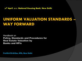 20th April, 2012, National Housing Bank, New Delhi