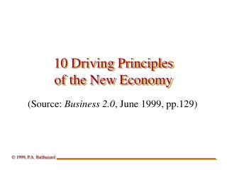 10 Driving Principles of the New Economy