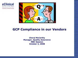 GCP Compliance in our Vendors