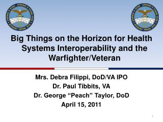 Big Things on the Horizon for Health Systems Interoperability and the Warfighter