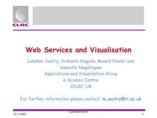 Web Services and Visualisation