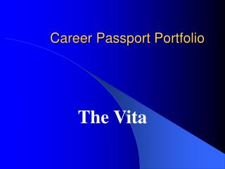 Career Passport Portfolio