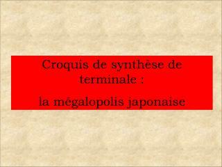 Croquis de synth se de terminale :  la m galopolis japonaise