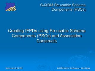 GJXDM Re-usable Schema Components RSCs