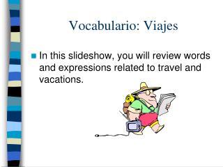 Vocabulario: Viajes