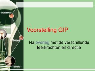 Voorstelling GIP