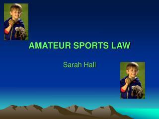 AMATEUR SPORTS LAW