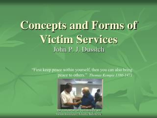 Concepts and Forms of Victim Services