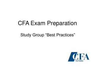 CFA Exam Preparation