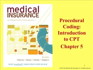 Procedural Coding:  Introduction  to CPT Chapter 5
