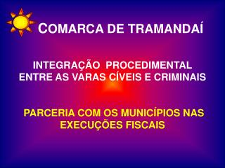 INTEGRA  O  PROCEDIMENTAL          ENTRE AS VARAS C VEIS E CRIMINAIS   PARCERIA COM OS MUNIC PIOS NAS EXECU  ES FISCAIS
