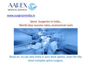 Spine Surgery in India - Advantages