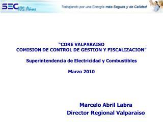 CORE VALPARAISO COMISION DE CONTROL DE GESTION Y FISCALIZACION   Superintendencia de Electricidad y Combustibles  Marzo