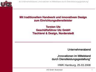 Unternehmerabend    Innovationen im Mittelstand durch Dienstleistungsgestaltung