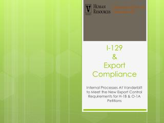 I-129    Export Compliance