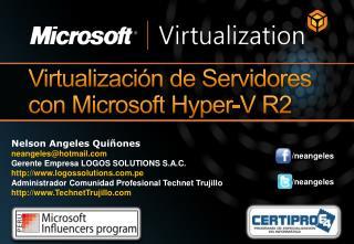 Virtualizaci n de Servidores con Microsoft Hyper-V R2