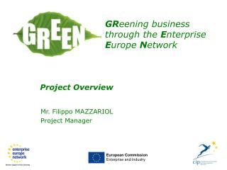 Mr. Filippo MAZZARIOL Project Manager
