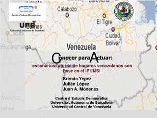 Escenarios futuros de hogares venezolanos con base en el IPUMSi