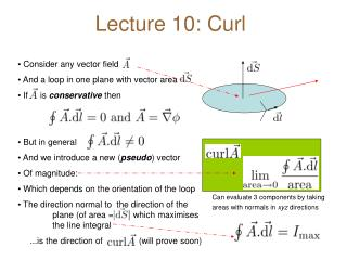 Lecture 10: Curl