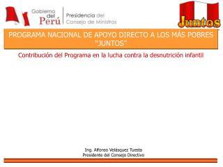 PROGRAMA NACIONAL DE APOYO DIRECTO A LOS M S POBRES  JUNTOS