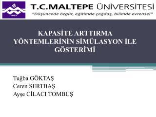 KAPASITE ARTTIRMA Y NTEMLERININ SIM LASYON ILE G STERIMI