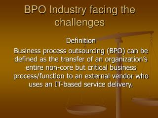 BPO Industry facing the challenges