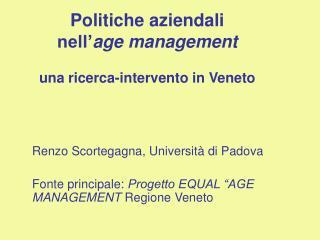 Politiche aziendali  nell age management  una ricerca-intervento in Veneto