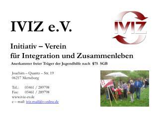 Initiativ   Verein  f r Integration und Zusammenleben
