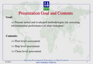 Presentation Goal and Contents