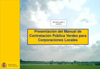 Presentaci n del Manual de Contrataci n P blica Verdes para Corporaciones Locales