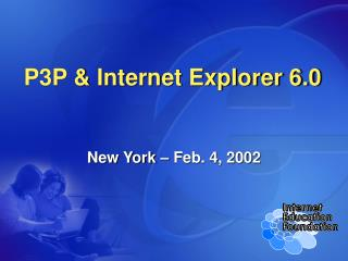 P3P  Internet Explorer 6.0