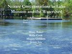 Nitrate Concentrations in Lake Munson and the Watershed