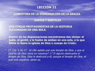 LECCI N 11