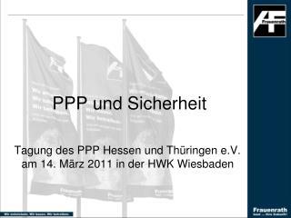 PPP und Sicherheit