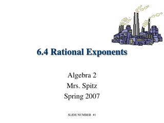 6.4 Rational Exponents