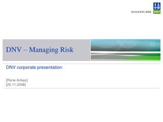 DNV   Managing Risk