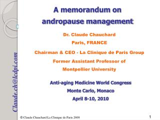 A memorandum on  andropause management