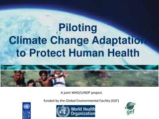 Piloting  Climate Change Adaptation  to Protect Human Health