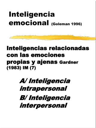 Inteligencia emocional Goleman 1996