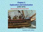 Chapter 3  Exploration and Colonization  1492-1675