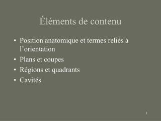 l ments de contenu