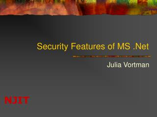 Security Features of MS .Net